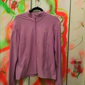 Nike Dri-Fit lilac zip up jacket L
